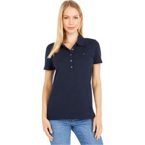 トミー ヒルフィガー Tommy Hilfiger レディース ポロシャツ 半袖 トップス Short Sleeve Solid Polo Navy|fermart2-store