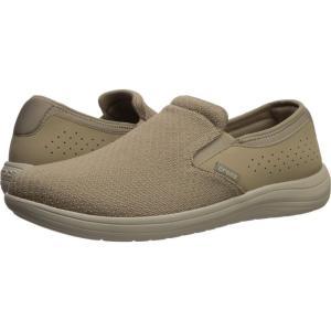 クロックス Crocs メンズ スリッポン・フラット シューズ・靴 Reviva Slip-On Khaki/Cobblestone|fermart2-store