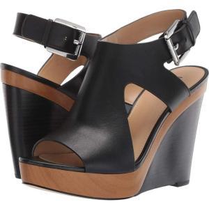 マイケル コース MICHAEL Michael Kors レディース サンダル・ミュール ウェッジソール シューズ・靴 Josephine Wedge Black Vachetta|fermart2-store
