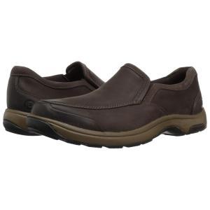 ダナム Dunham メンズ スリッポン・フラット シューズ・靴 Battery Park Slip-On Brown Nubuck fermart2-store