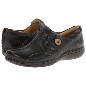 クラークス レディース ローファー・オックスフォード シューズ・靴 Un.loop Black Leather|fermart2-store