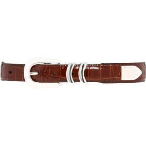 ブライトン メンズ ベルト Catera Croco Taper Belt Peanut|fermart2-store
