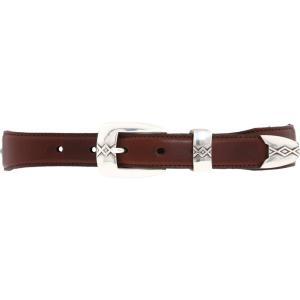 ブライトン メンズ ベルト Cody Turquoise Taper Belt Brown/Black|fermart2-store