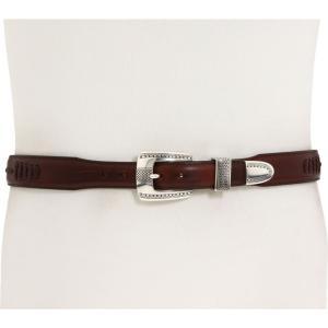 ブライトン Brighton メンズ ベルト 1-1/4' - 1' Salina Taper Belt Brown|fermart2-store