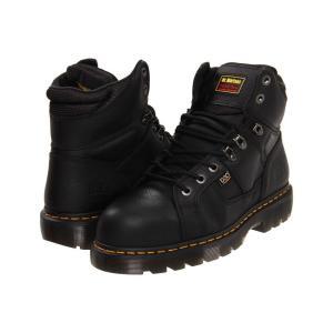 ドクターマーチン Dr. Martens Work メンズ ブーツ シューズ・靴 Ironbridge - Internal MetGuard Black Industrial Grizzly|fermart2-store