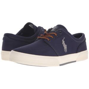 ラルフ ローレン Polo Ralph Lauren メンズ シューズ・靴 スニーカー Faxon Low Newport Navy/Basic Grey Canvas|fermart2-store