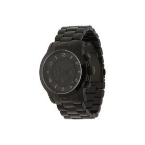 マイケル コース メンズ 腕時計 MK8157 - Runway Chronograph Shiny Black/Black|fermart2-store