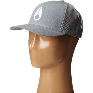 ニクソン Nixon レディース キャップ 帽子 Iconed Trucker Hat Heather Gray|fermart2-store