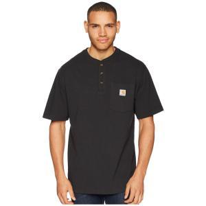 カーハート Carhartt メンズ Tシャツ ヘンリーシャツ トップス Workwear Pocket S/S Henley Black|fermart2-store