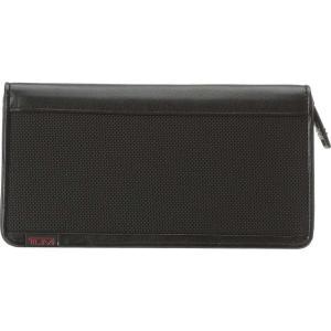 トゥミ Tumi メンズ 財布 Alpha - Zip Around Travel Wallet Black|fermart2-store