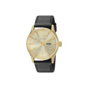 ニクソン レディース 腕時計 Sentry Leather All Gold/Black|fermart2-store