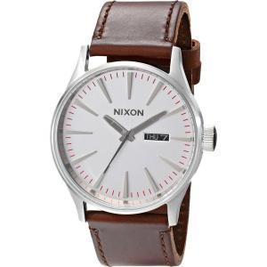 ニクソン レディース 腕時計 Sentry Leather Silver/Brown|fermart2-store