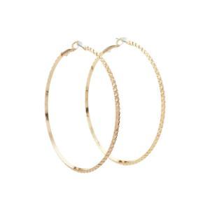 ゲス レディース イヤリング・ピアス ジュエリー・アクセサリー Diamond Cut Hoop Earring Gold|fermart2-store