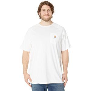 カーハート Carhartt メンズ Tシャツ 大きいサイズ トップス Big & Tall Force Cotton S/S T-Shirt White|fermart2-store