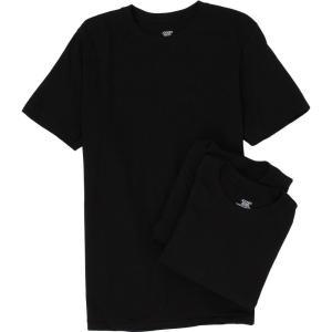 ジョッキー メンズ Tシャツ トップス Cotton Crew Neck T-Shirt 3-Pack Black|fermart2-store