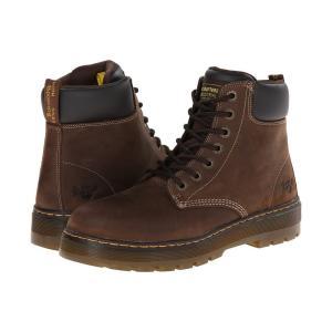 ドクターマーチン Dr. Martens Work メンズ ブーツ シューズ・靴 Winch Steel Toe Dark Brown Wyoming fermart2-store