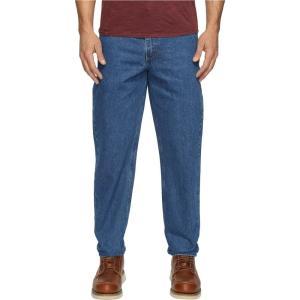 カーハート メンズ ジーンズ・デニム ボトムス・パンツ Relaxed Fit Tapered Leg Jean Darkstone|fermart2-store