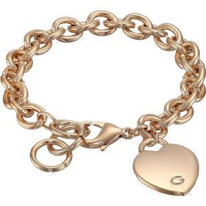ゲス レディース ブレスレット ジュエリー・アクセサリー Heart Bracelet Rose Gold|fermart2-store