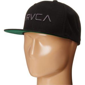 ルーカ RVCA メンズ キャップ 帽子 Twill Snapback Black/Charcoal|fermart2-store