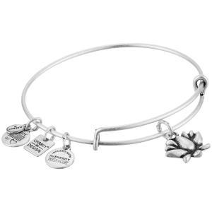 アレックス アンド アニ レディース ブレスレット ジュエリー・アクセサリー Charity by Design Lotus Blossom Charm Bangle Rafaelian Silver Finish|fermart2-store
