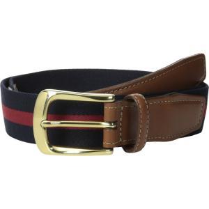 トリノレザー Torino Leather Co. メンズ アクセサリー ベルト European Surcingle Navy/ Red|fermart2-store