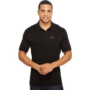 アークテリクス メンズ ポロシャツ トップス Pelion Polo Black|fermart2-store