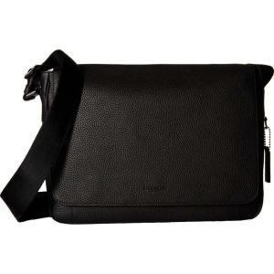 コーチ COACH メンズ メッセンジャーバッグ バッグ Pebbled Metropolitan Courier QB/Black|fermart2-store