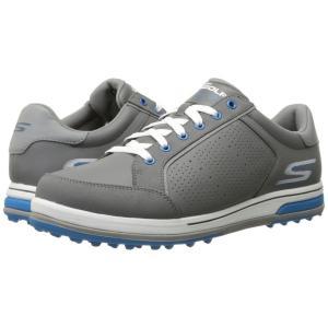スケッチャーズ メンズ スニーカー シューズ・靴 GO GOLF - Go Drive 2 Charcoal/Blue|fermart2-store