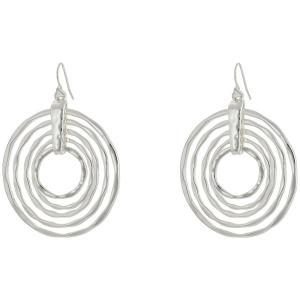 ロバート リー モーリス レディース イヤリング・ピアス ジュエリー・アクセサリー Hammered Orbital Drop Earrings Silver|fermart2-store