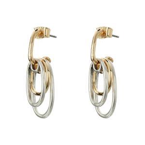 ロバート リー モーリス Robert Lee Morris レディース イヤリング・ピアス ジュエリー・アクセサリー Two-Tone Circle Shaky Earrings Two-Tone|fermart2-store