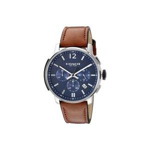 コーチ メンズ 腕時計 Bleecker Chrono Leather Matte Navy|fermart2-store