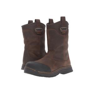 ドクターマーチン Dr. Martens Work メンズ ブーツ シューズ・靴 Rush Electrical Hazard Waterproof Composite Toe Rigger Boot Brown Crisscross Waterproof|fermart2-store