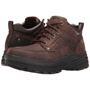 スケッチャーズ メンズ ブーツ シューズ・靴 Relaxed Fit Holdren - Lender Dark Brown Leather|fermart2-store