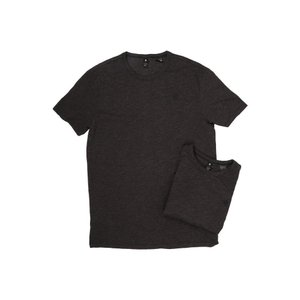 ジースター メンズ Tシャツ トップス 2-Pack Base Crew Neck Short Sleeve Tee in Jisoe Jersey Black|fermart2-store