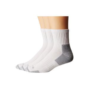 カーハート Carhartt メンズ ソックス インナー・下着 Cotton Quarter Work Socks 3-Pack White|fermart2-store
