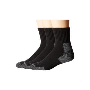 カーハート Carhartt メンズ ソックス インナー・下着 Cotton Quarter Work Socks 3-Pack Black|fermart2-store