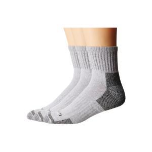 カーハート メンズ ソックス インナー・下着 Cotton Quarter Work Socks 3-Pack Gray|fermart2-store