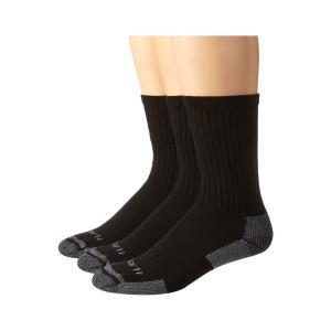 カーハート Carhartt メンズ ソックス インナー・下着 Cotton Crew Work Socks 3-Pack Black|fermart2-store