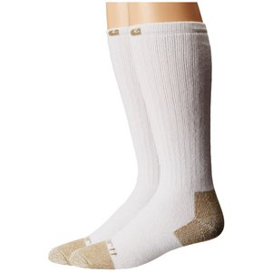 カーハート Carhartt メンズ ソックス インナー・下着 Full Cushion Steel Toe Cotton Work Boot Socks 2-Pack White|fermart2-store