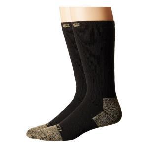 カーハート Carhartt メンズ ソックス インナー・下着 Full Cushion Steel Toe Cotton Work Boot Socks 2-Pack Black|fermart2-store