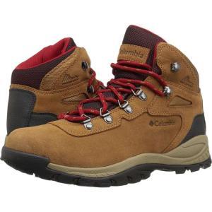 コロンビア レディース シューズ・靴 ハイキング・登山 Newton Ridge Plus Waterproof Amped Elk/Mountain Red|fermart2-store