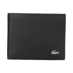 ラコステ メンズ 財布 FG Small Billfold ID Slot Black|fermart2-store