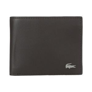 ラコステ メンズ 財布 FG Small Billfold ID Slot Dark Brown|fermart2-store