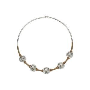 ロバート リー モーリス レディース ネックレス ジュエリー・アクセサリー Sculptural Bead Wire Collar Necklace Two-Tone|fermart2-store