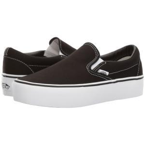 ヴァンズ Vans レディース シューズ・靴 スリッポン Classic Slip-On Platform Black|fermart2-store