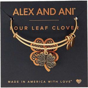 アレックス アンド アニ レディース ブレスレット ジュエリー・アクセサリー Path of Symbols-Four Leaf Clover IV Bangle Rafaelian Gold fermart2-store