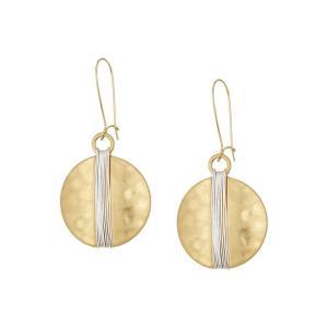 ロバート リー モーリス Robert Lee Morris レディース イヤリング・ピアス ジュエリー・アクセサリー Two-Tone Wire Wrap Sharp Hook Earrings Two-Tone|fermart2-store