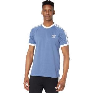 アディダス adidas Originals メンズ Tシャツ トップス 3-Stripes Tee Crew Blue|fermart2-store