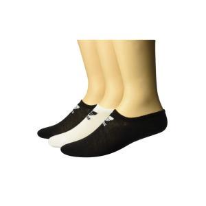 アディダス adidas Originals メンズ ソックス インナー・下着 Originals Trefoil Super No Show Sock 3-Pack Black/White/White/Black fermart2-store