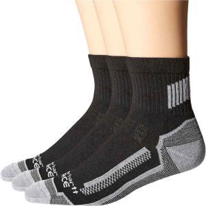 カーハート Carhartt メンズ ソックス 3点セット インナー・下着 3-Pack Force Performance Work Quarter Socks Black|fermart2-store